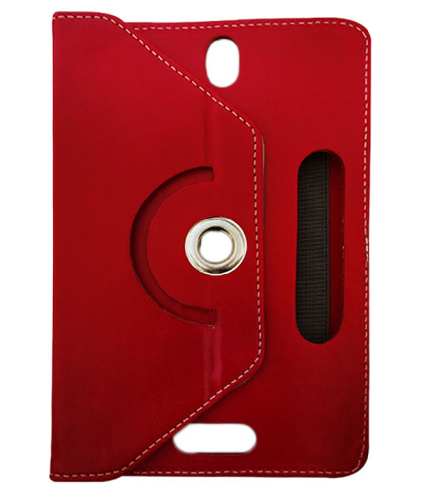 Fastway Flip Cover with Stand for Acer Iconia One - Red