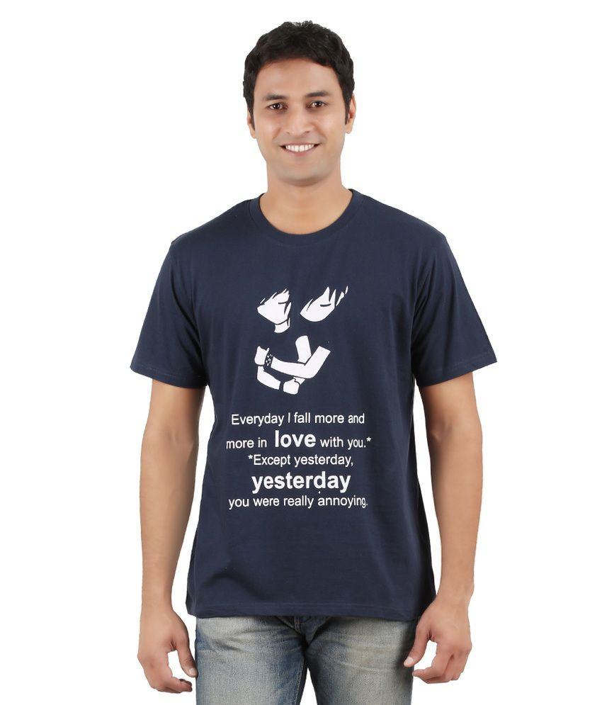 Merica Navy Cotton T Shirt