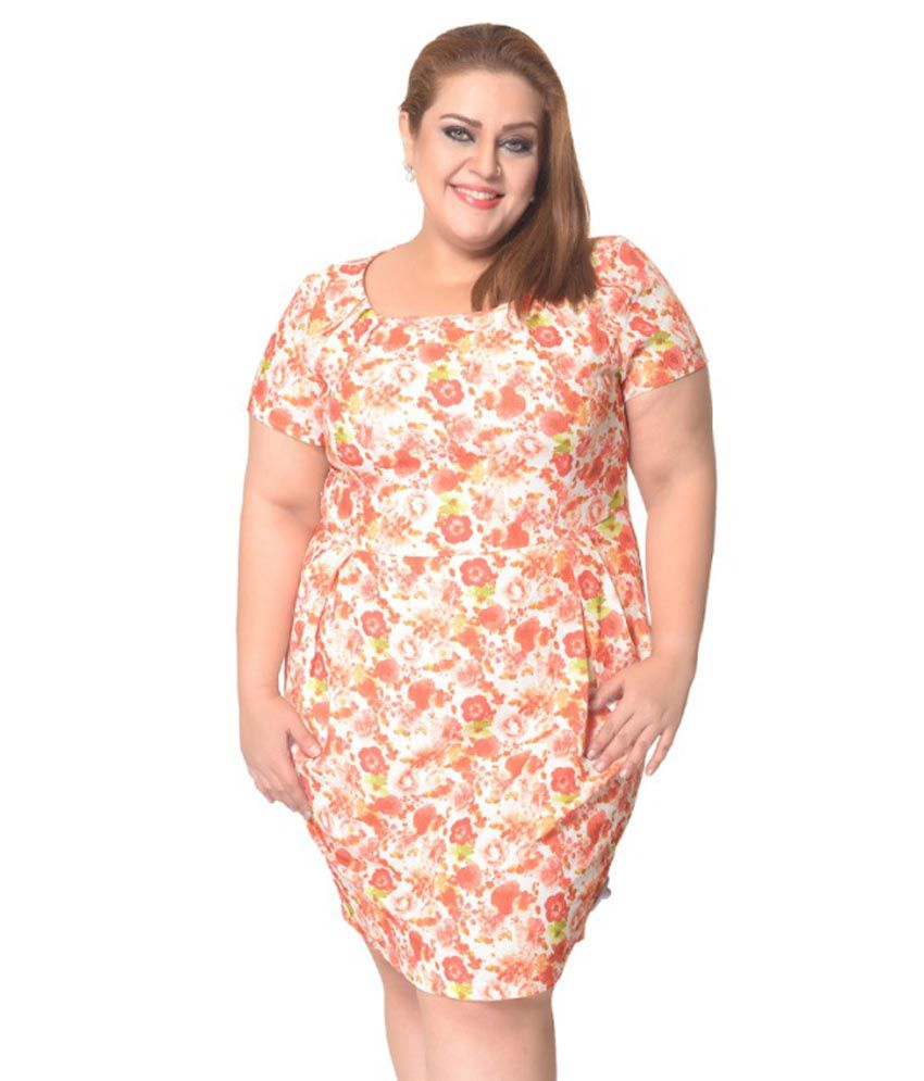 669a91b6c3c3 Red Floral Print Midi Dress - Buy Red Floral Print Midi Dress Online at  Best Prices in India on Snapdeal