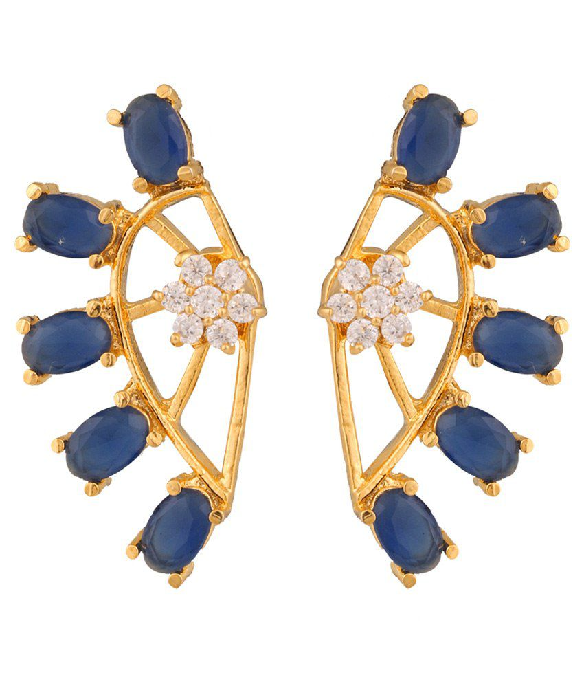 Archi Collection Blue Alloy Ear Cuffs Earring