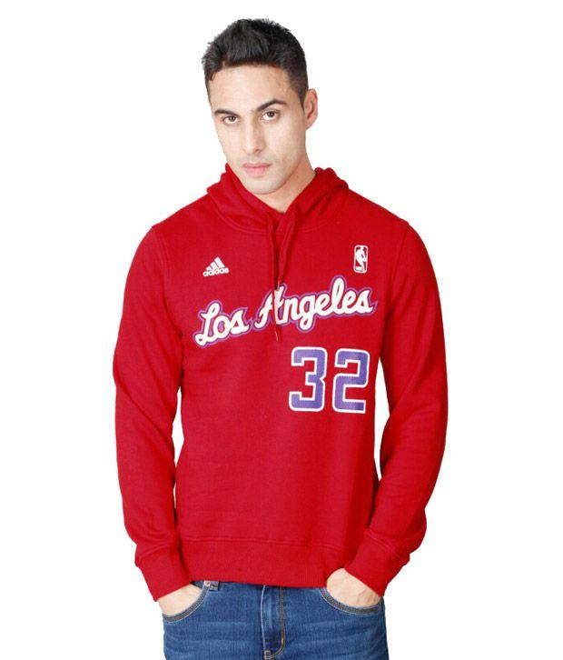 Adidas NBA Red Los Angeles Sweatshirt