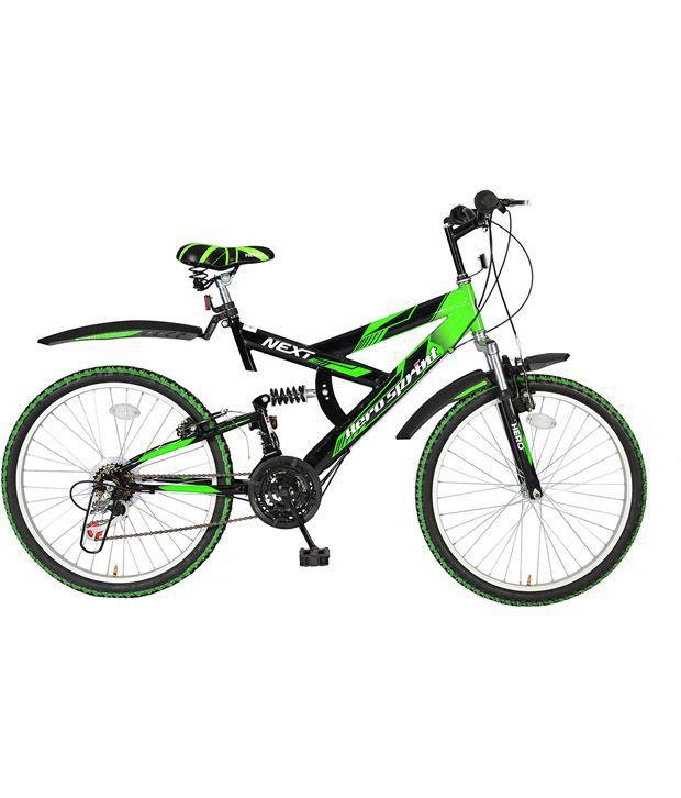 Hero Green Amp Black Next 24t 18 Speed Sprint Bicycle Buy