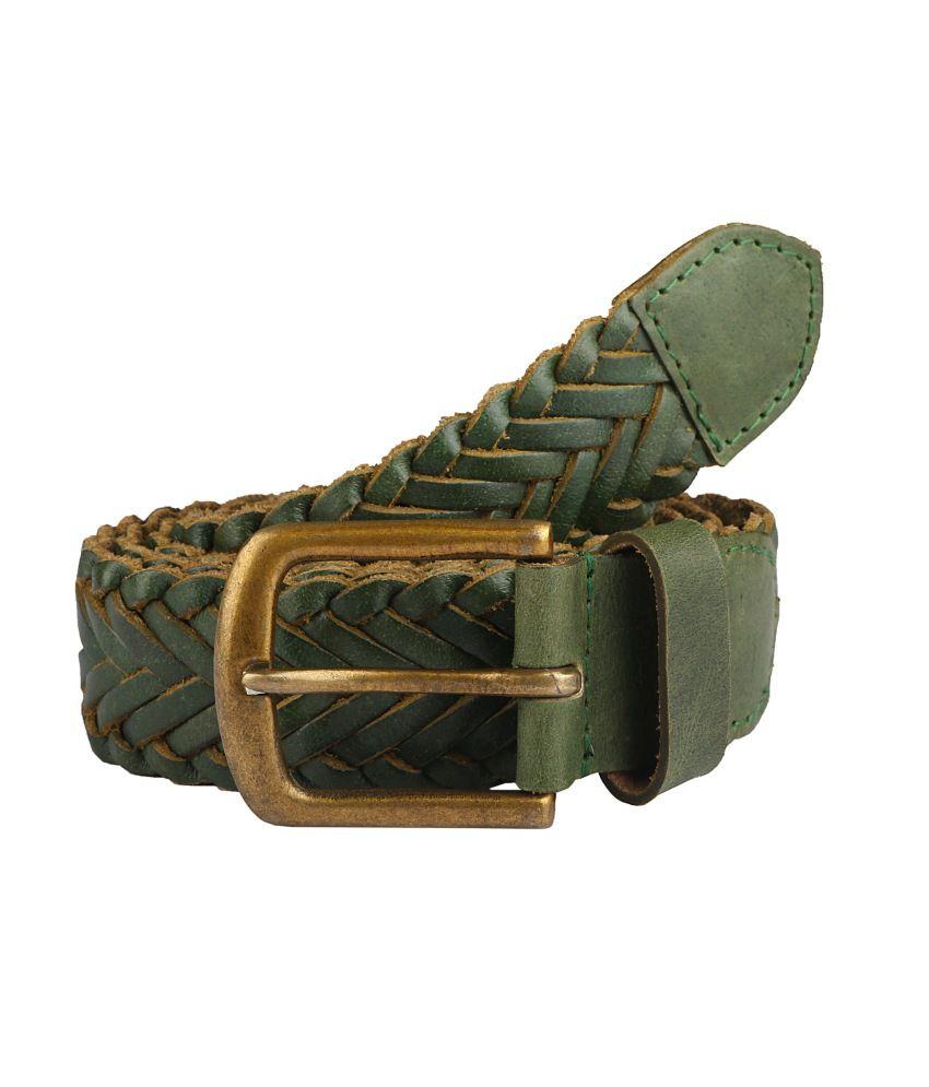 Paradigm Design Lab Green Casual Belt For Men