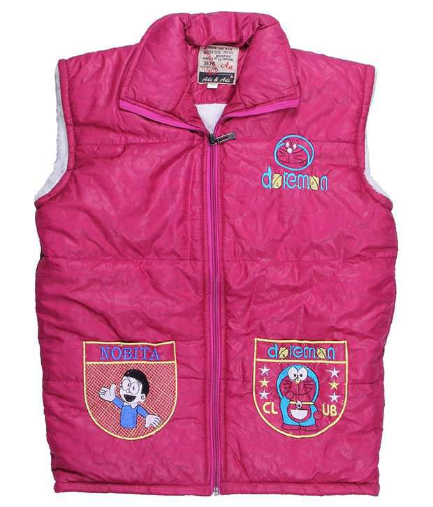 Adi & Adi Pink Padded Jacket For Girls