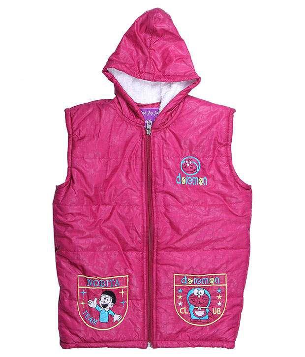 Adi & Adi Pink Padded Jacket For Girls