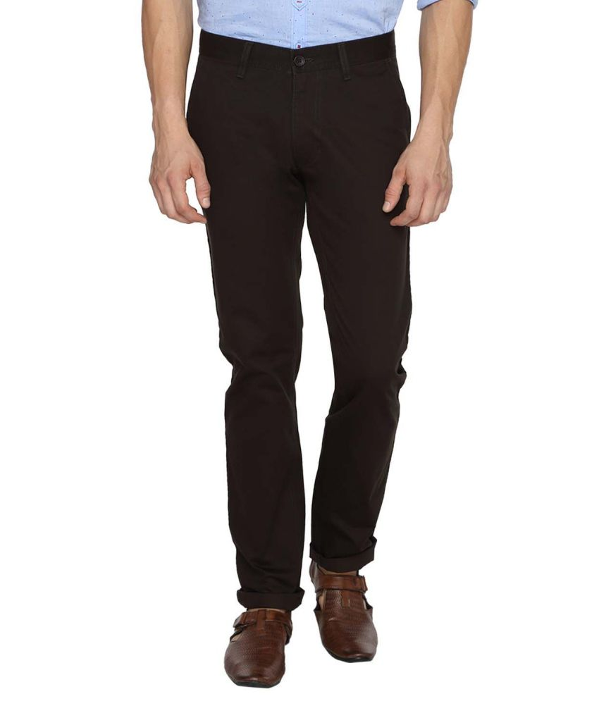 Derby Jeans Community Black Regular Fit Casual Chinos