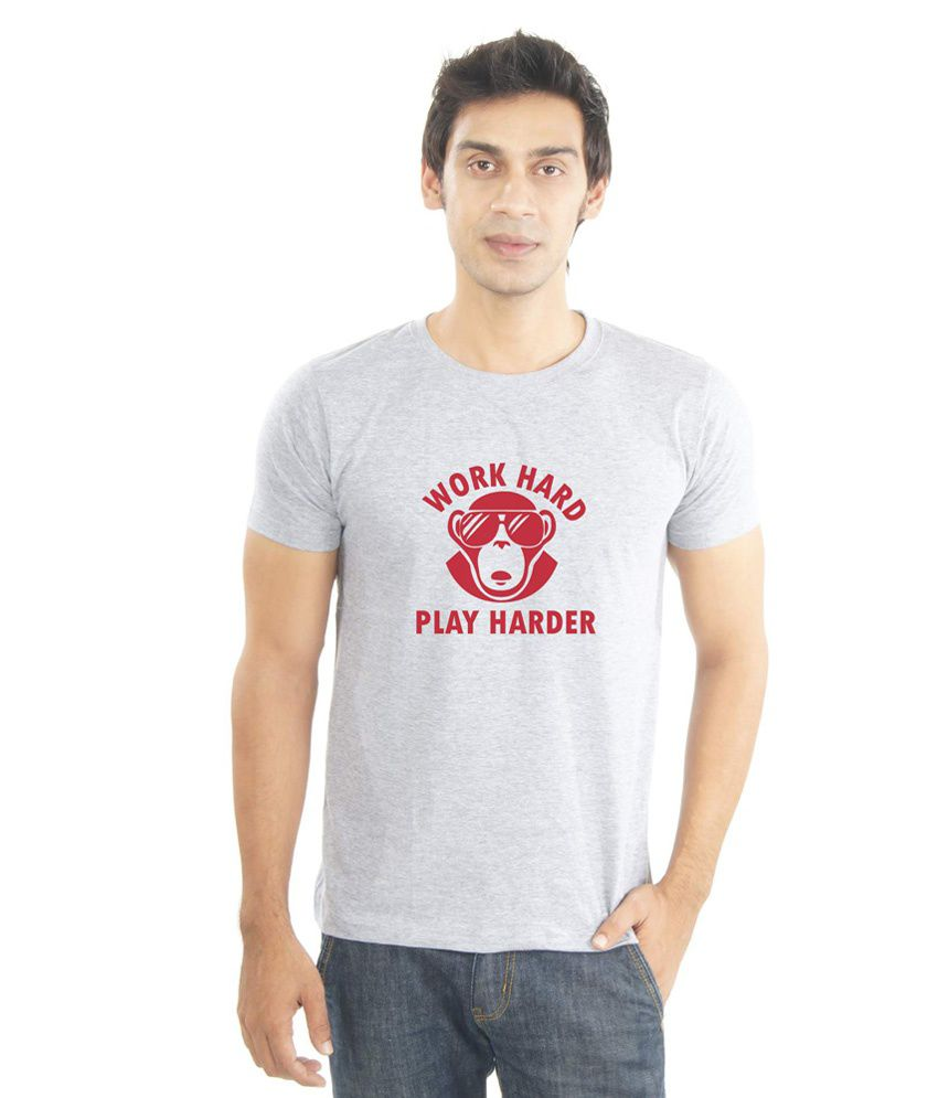 Lacrafters Grey Cotton T-Shirt