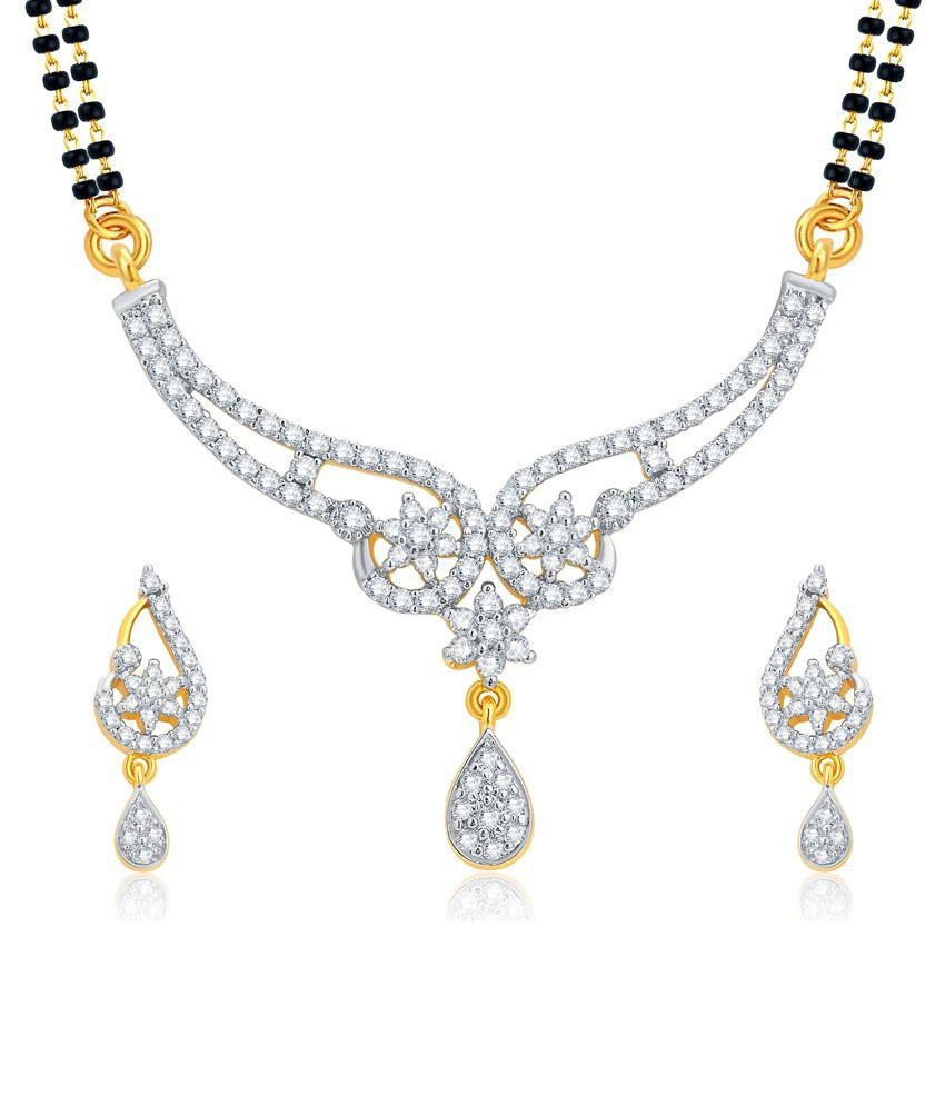 Sukkhi Golden Alloy Mangalsutra Set