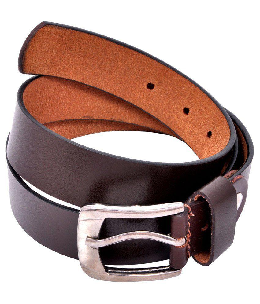 King & Queen Brown Belt For Men