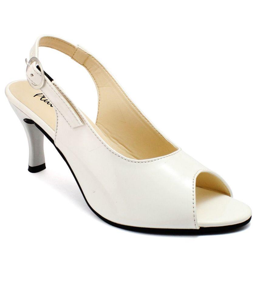 Plutos White Stiletto Heels
