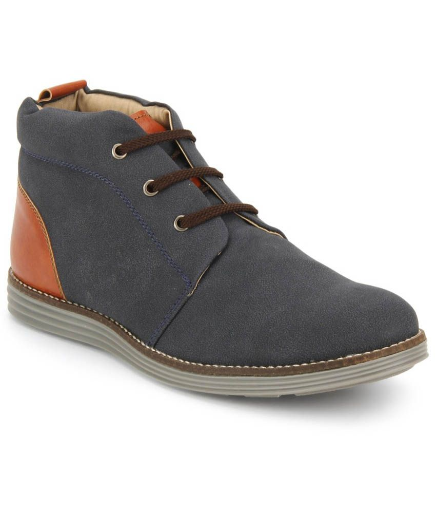 Knotty Derby Blue Boots