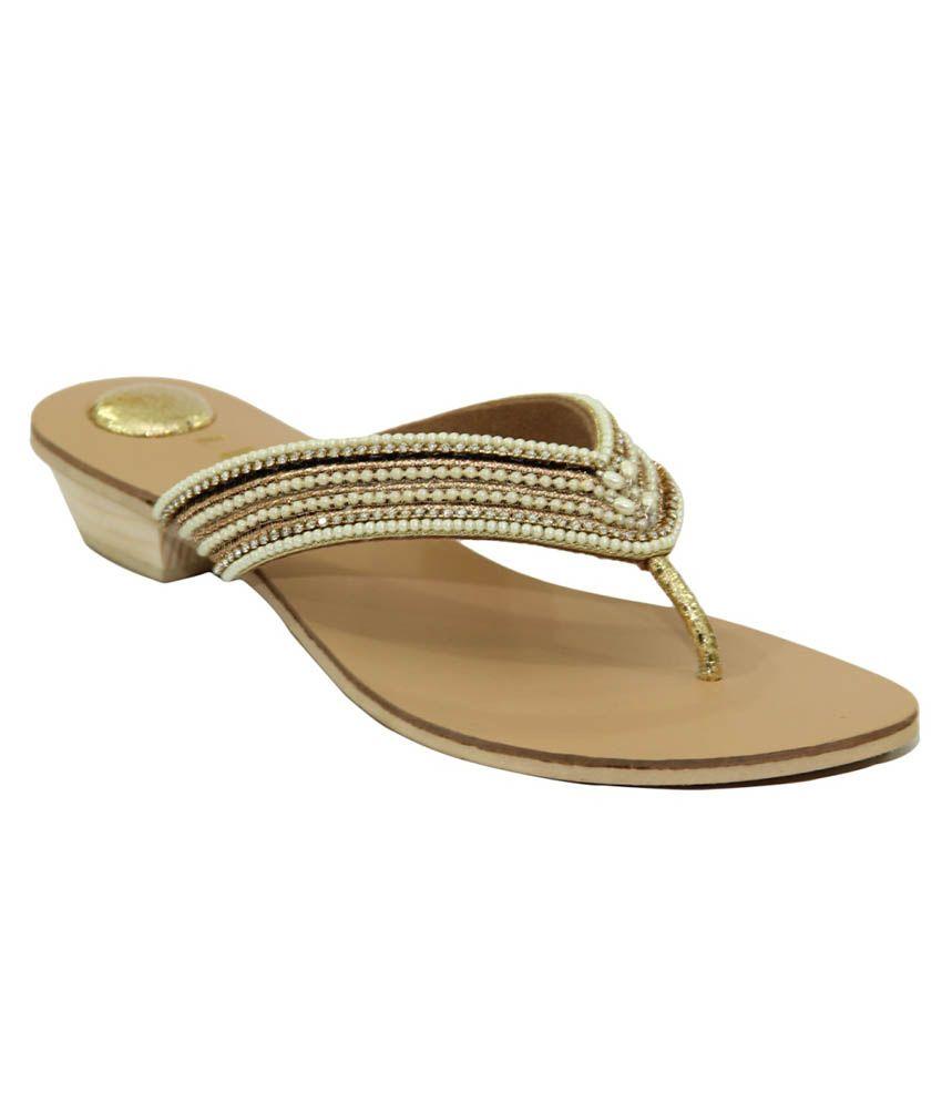 Liza Golden Flat Slip-on