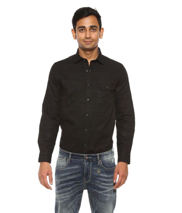 Pepe Jeans Black Casual Shirt