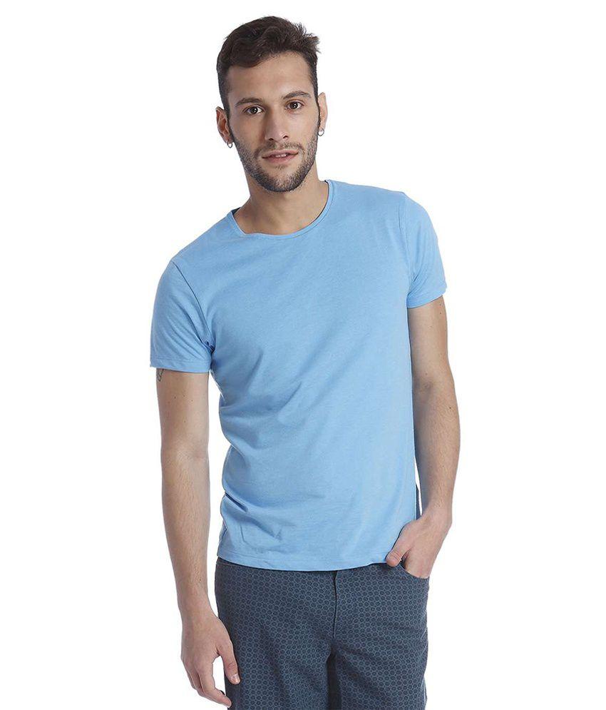 Jack & Jones Blue Half Sleeves T-Shirt