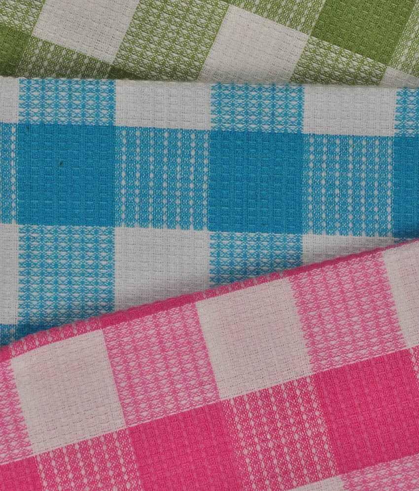 Mahendra Set of 3 Cotton Bath Towel - Multi Color - Buy Mahendra Set ...