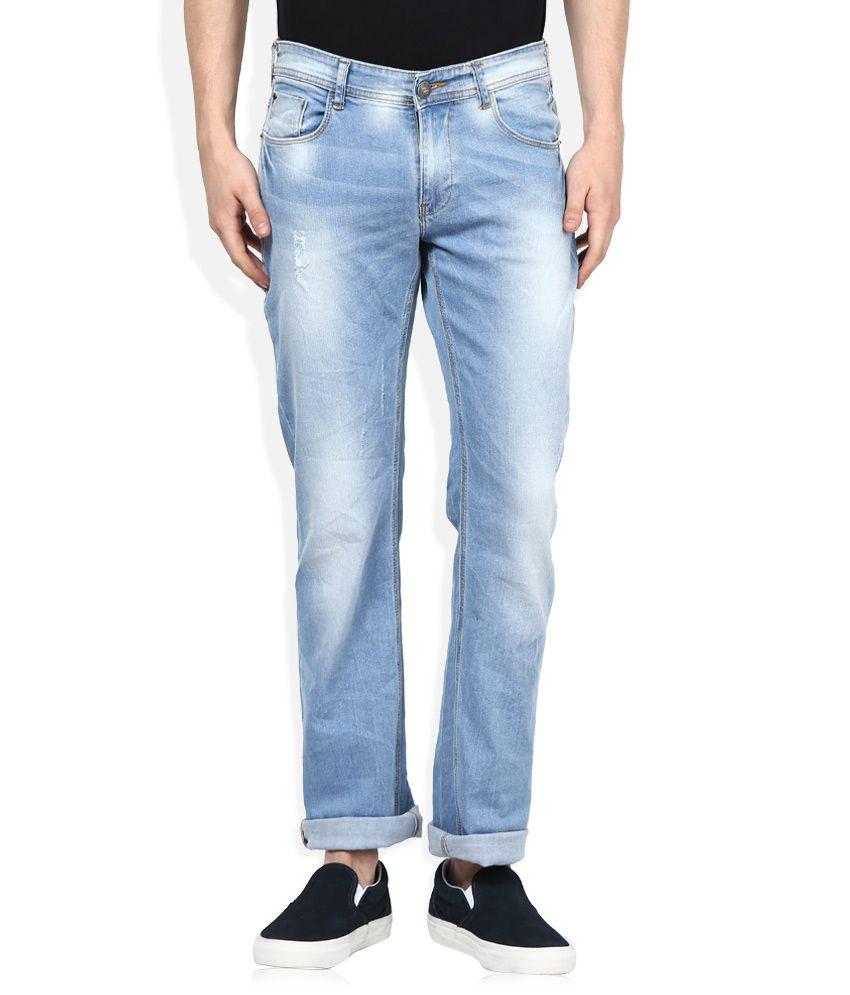 Spykar Blue Light Wash Regular Fit Jeans