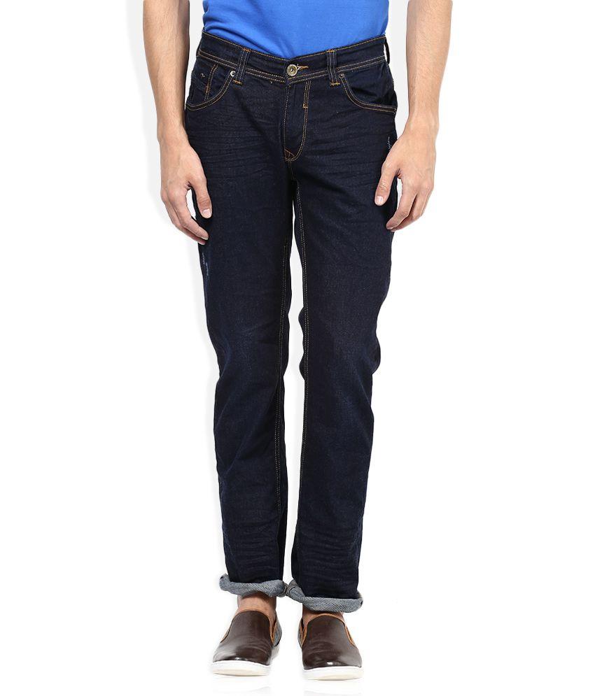 Spykar Navy Slim Fit Jeans