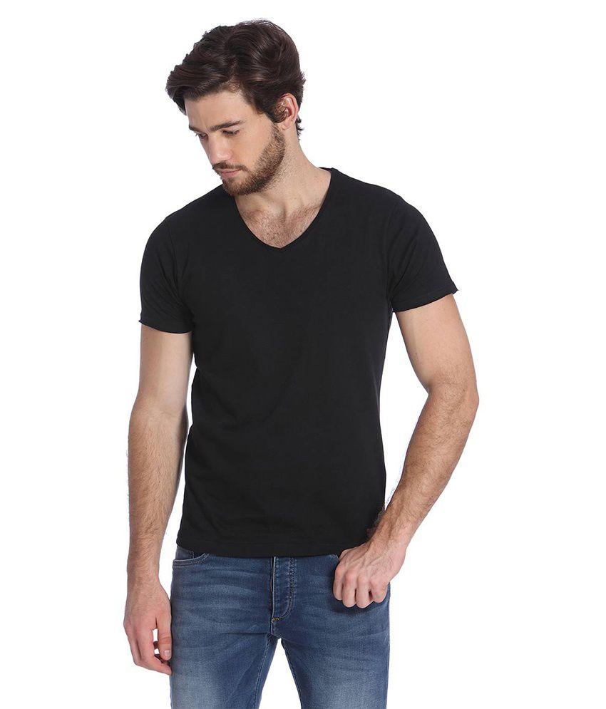Jack & Jones Black Half Sleeves T-Shirt