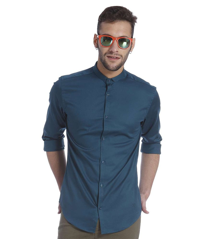 Jack & Jones Navy Slim Fit Casual Shirt