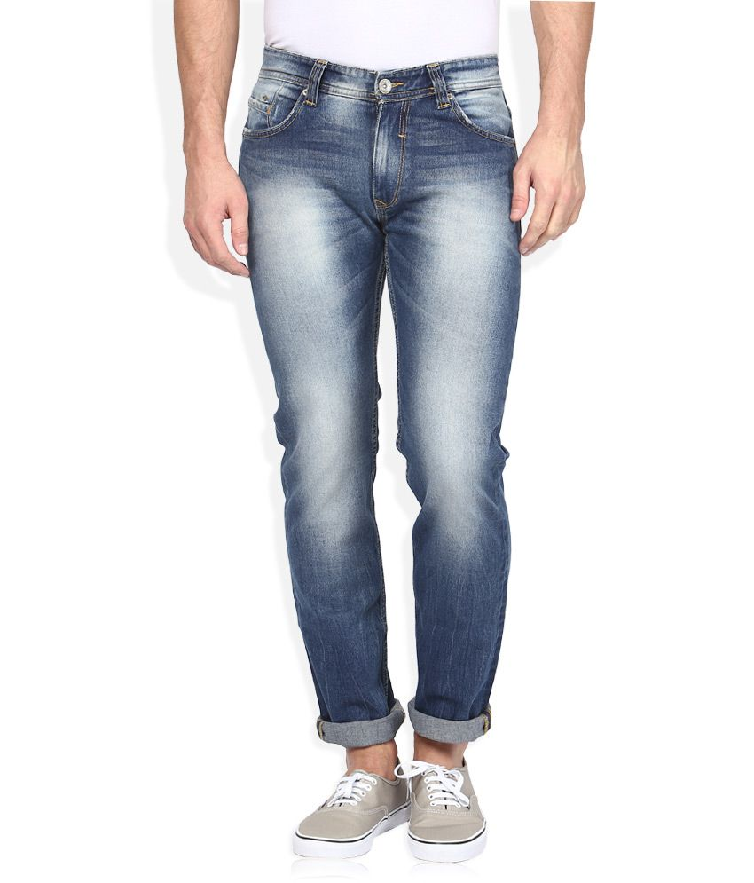 Spykar Blue Light Wash Slim Fit Jeans