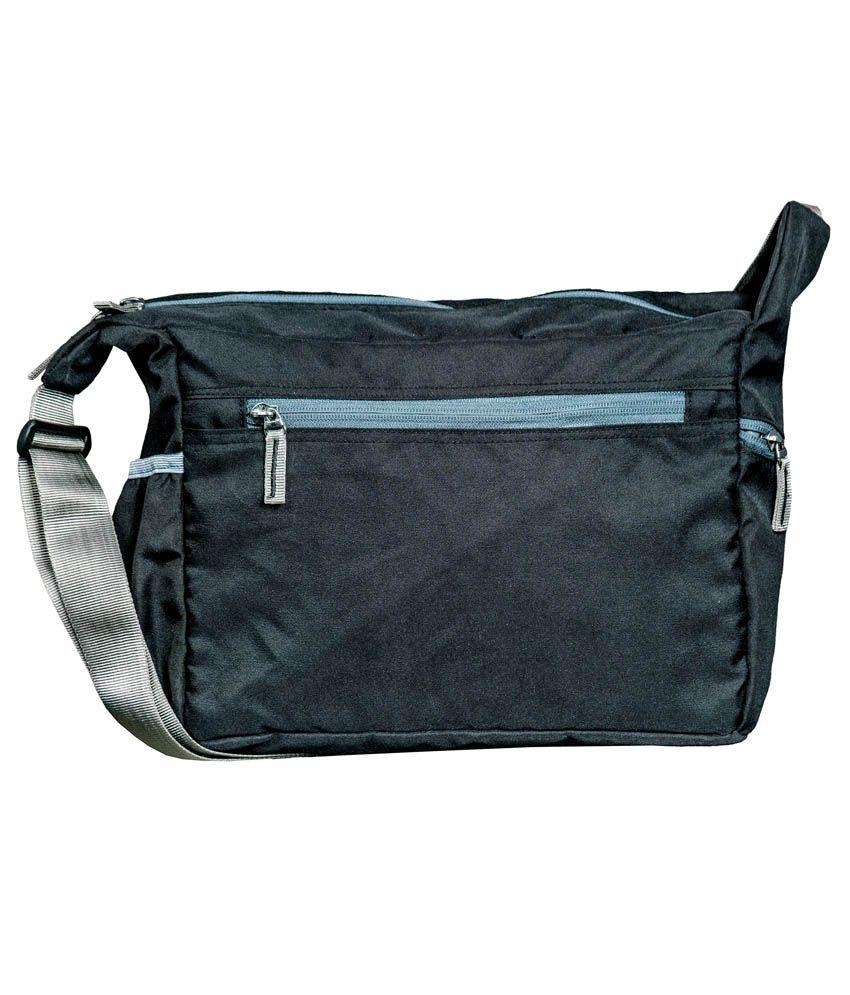 Coolcrocs Black Polyester Sling Bag - Buy Coolcrocs Black ...
