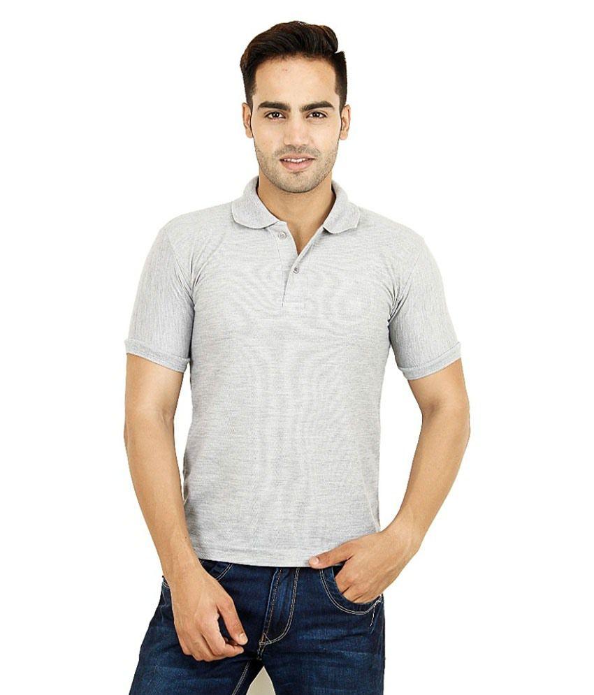 DG Grey Half Sleeves Polo T-Shirt