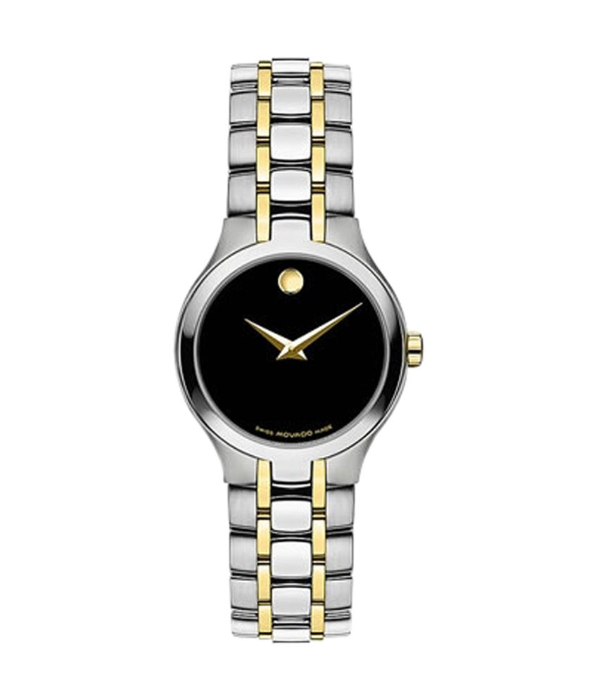 Movado Esperanza Black Dial Analog Watch