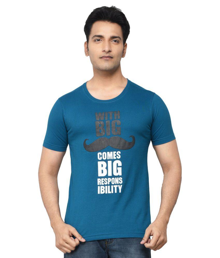 Regnum Blue Cotton T-shirt