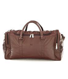 Mboss Brown Leather Duffle Bag