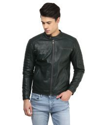Atorse Black Leather Jacket