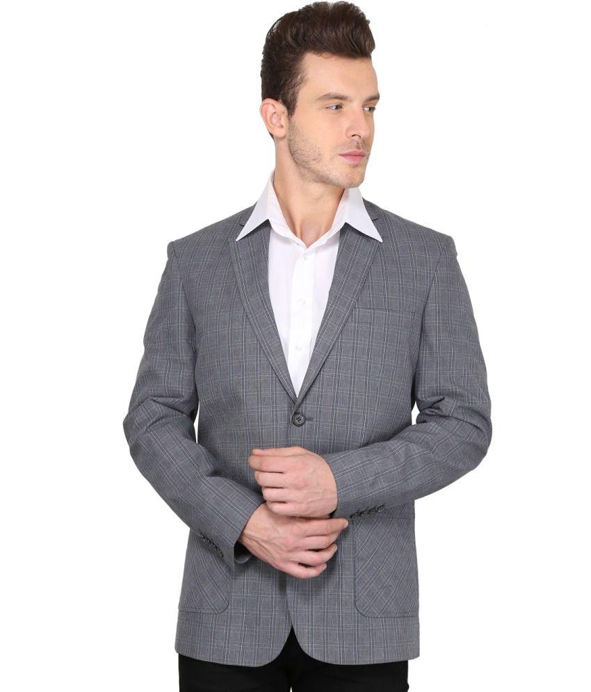 Envoy Grey Casual Blazer