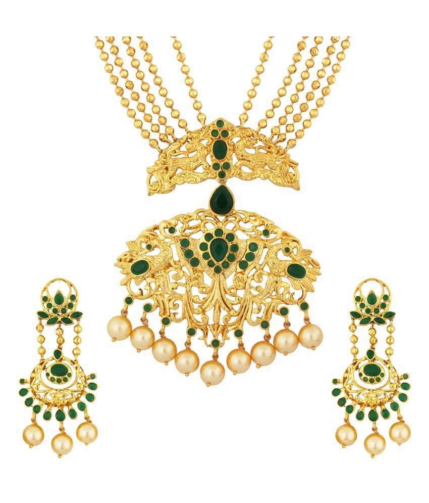 Kushi Golden Alloy Necklace Set