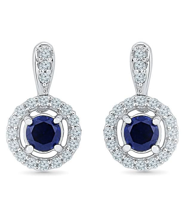 Radiant Bay 18kt White Gold EGL Certified Blue Sapphire Drops