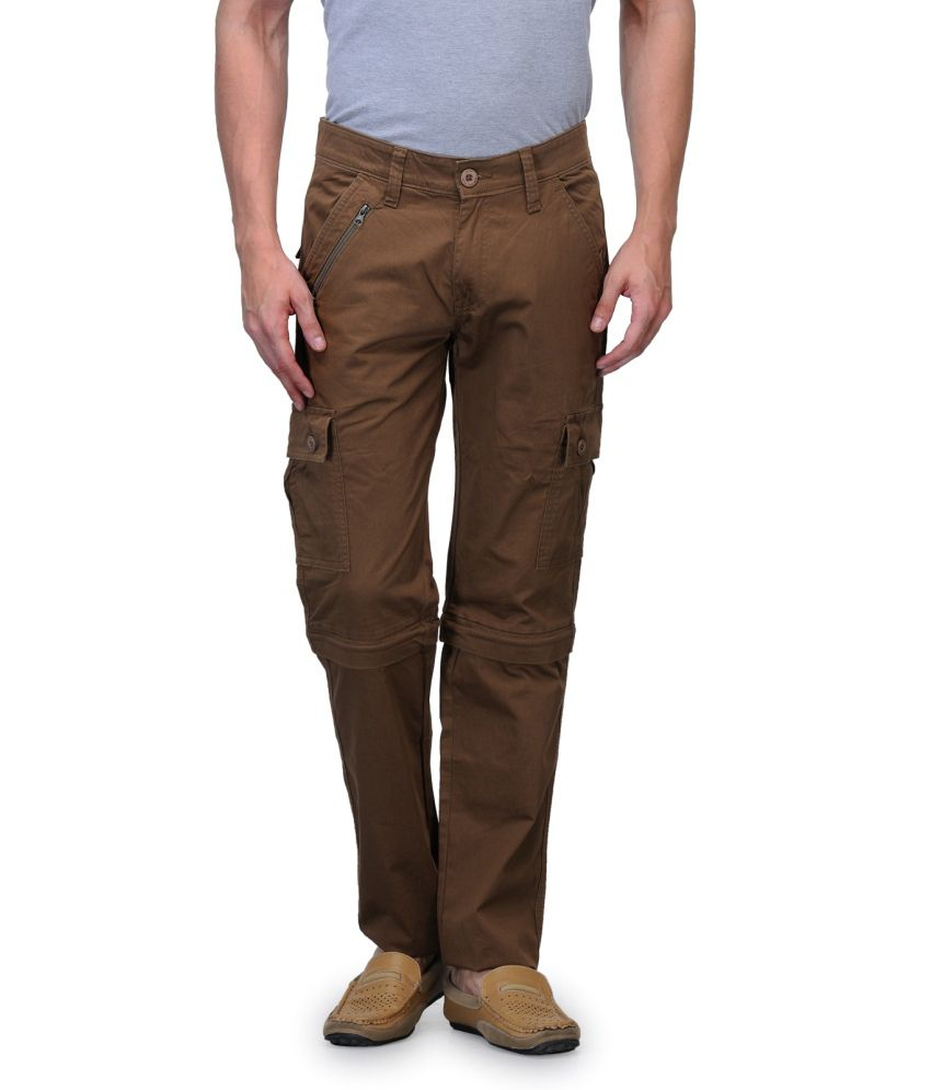Wearyour Mind Khaki Slim Fit Casual Trousers