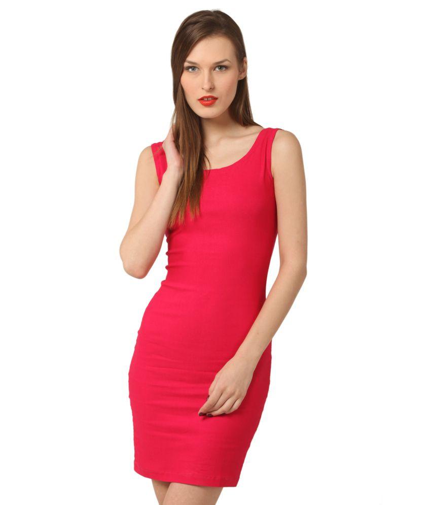 Vostro Moda Pink Polyester Dresses