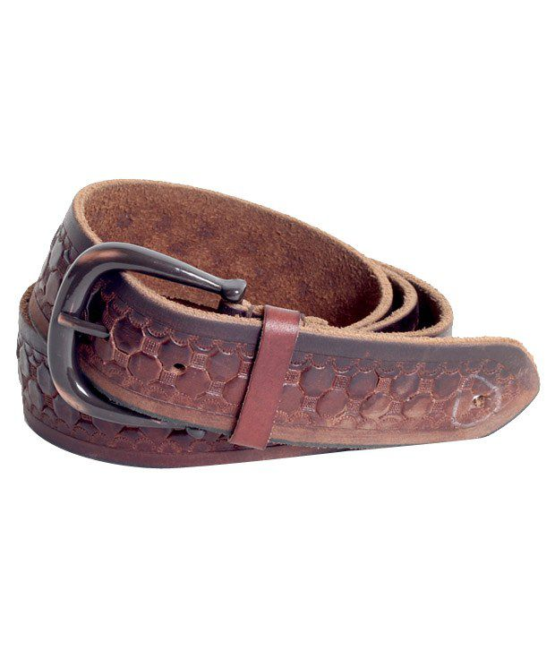Flinx Brown Leather Casual Belt For Men