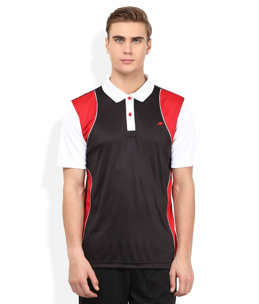 2go Black Solid Polo T-Shirt