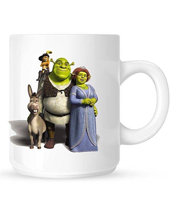 Huppme Shrek White Mug