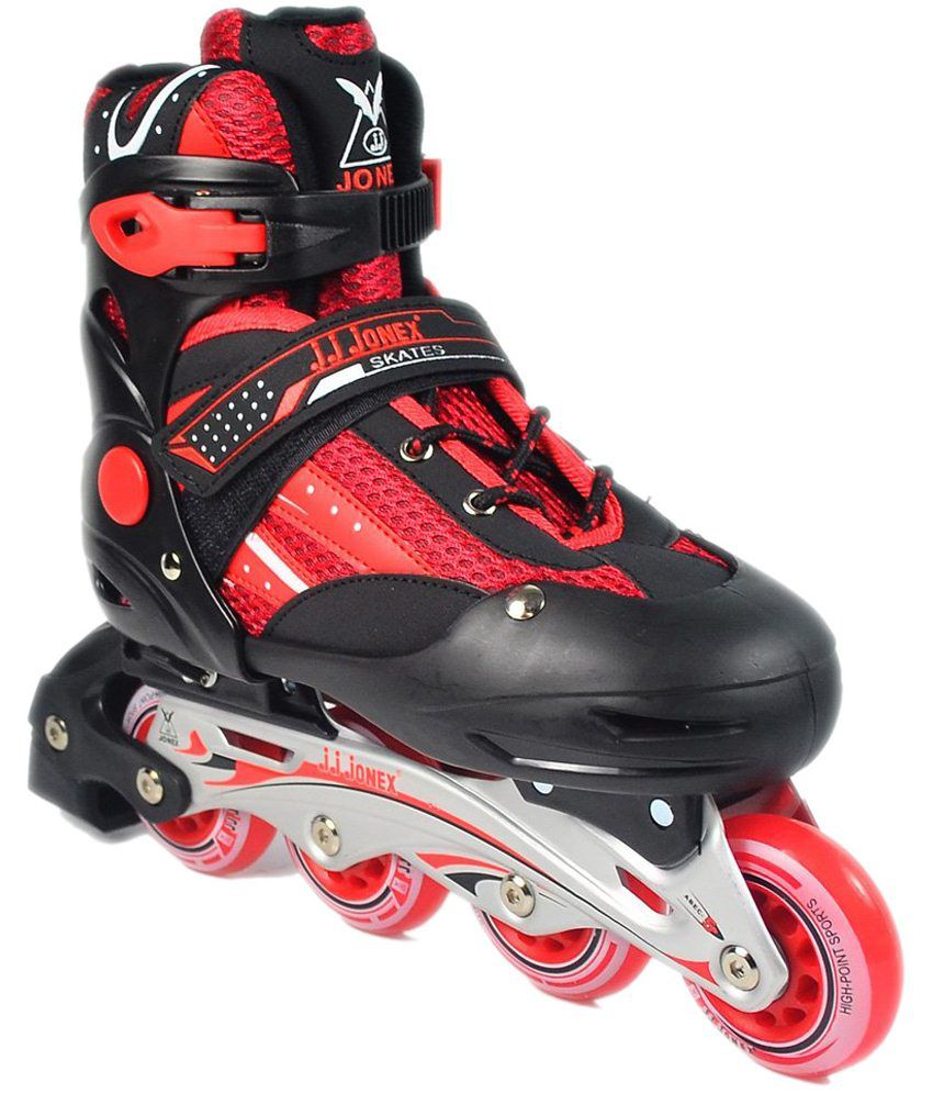 55a106f6d3b Jonex Red   Black Roller Skate  Buy Online at Best Price on Snapdeal