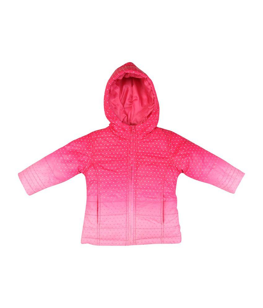 Karrot Pink Polyester Hooded Jacket