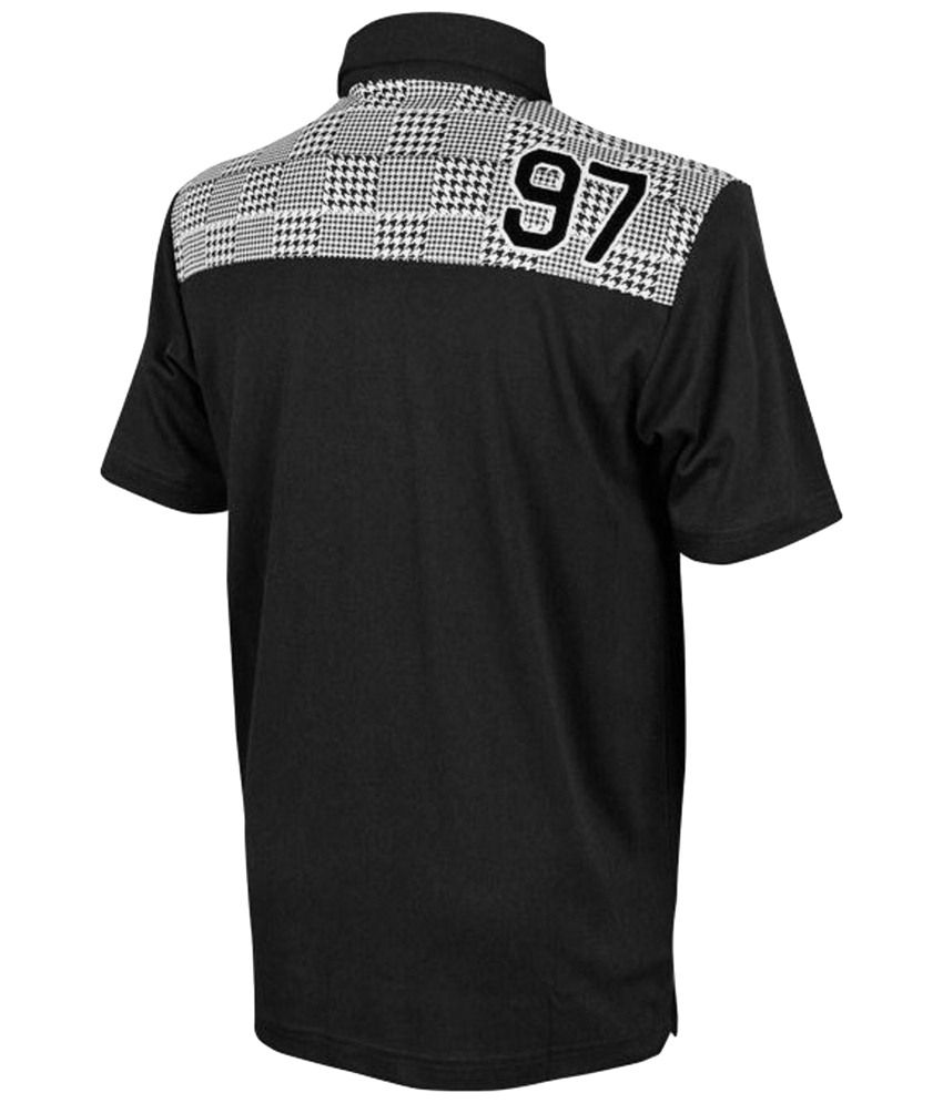 TaylorMade Gray & Black Golf Polo T Shirt