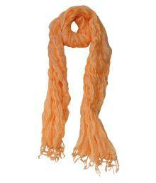 Hve Orange Cotton Polka Dot Scarve For Women