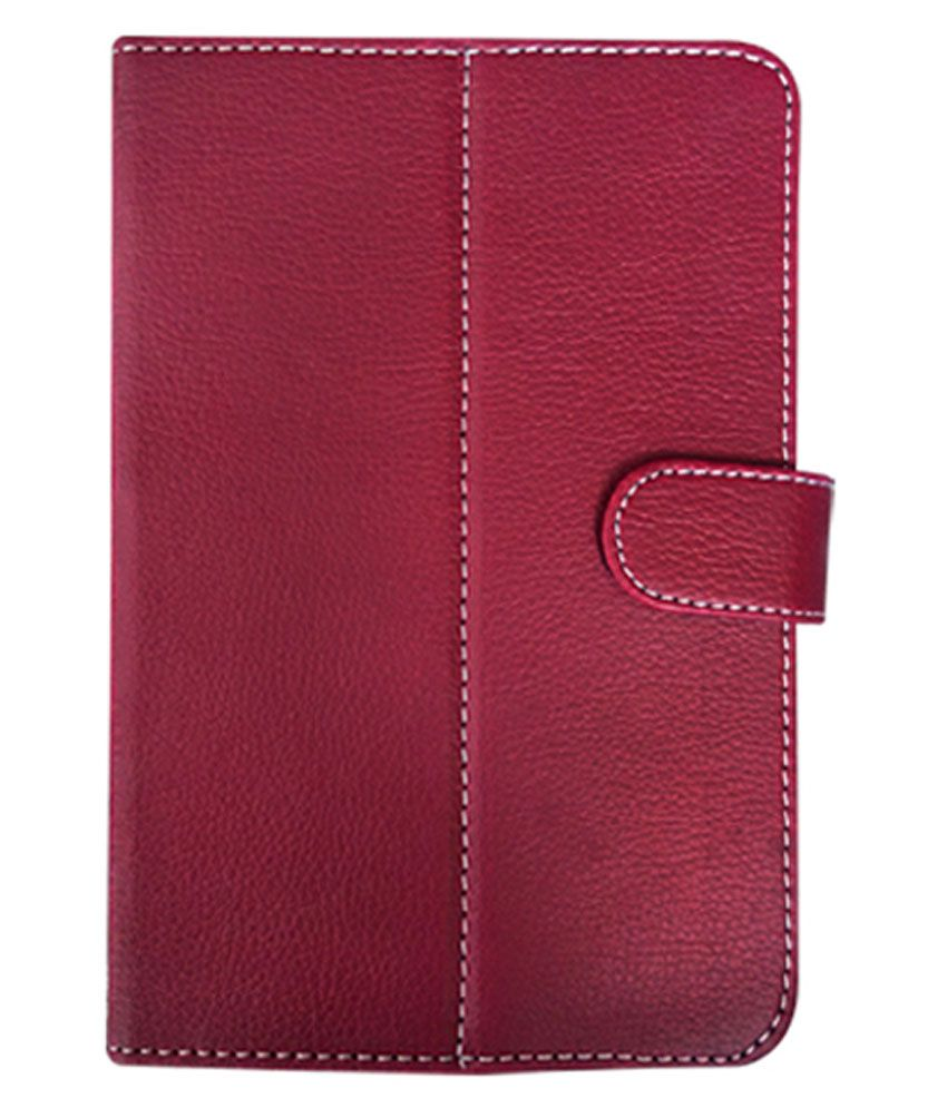 Fastway Flip Cover For Spice Steller Slate Pad Me 725 - Red