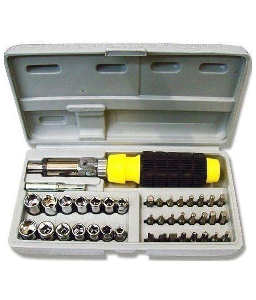 Globalepartner-41-Pcs-Tool-Kit-Ratchet-Screwdriver
