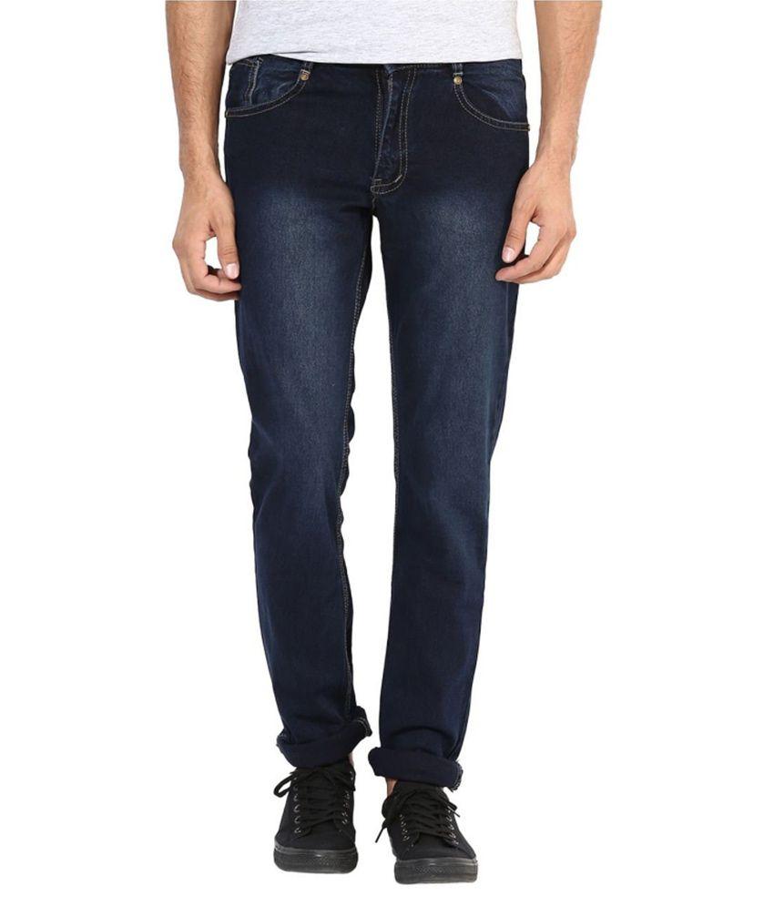 Hybrid Fashion Black Regular Fit Jeans