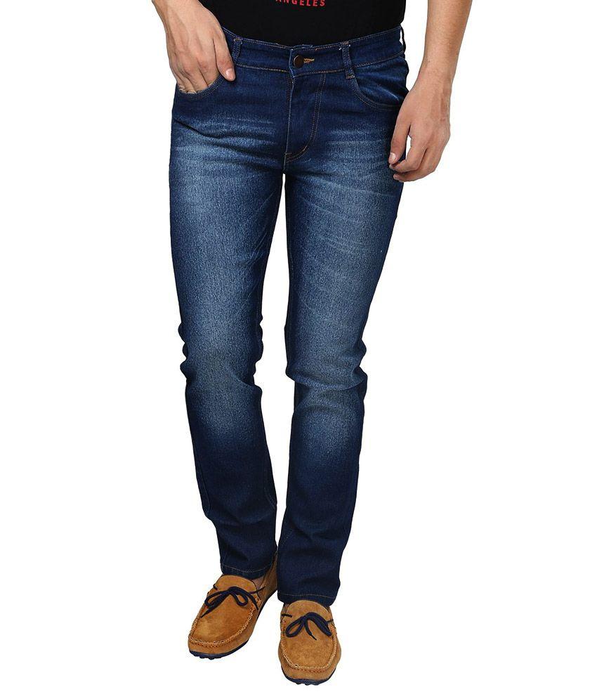 Hybrid Fashion Blue Regular Fit Jeans