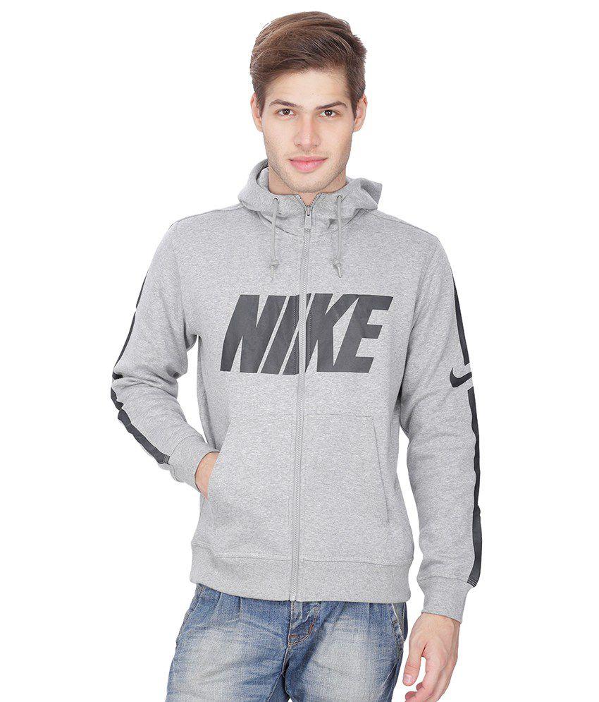 8334b91fab Nike Grey Club Hooded Sweatshirt - Buy Nike Grey Club Hooded Sweatshirt  Online at Low Price in India - Snapdeal