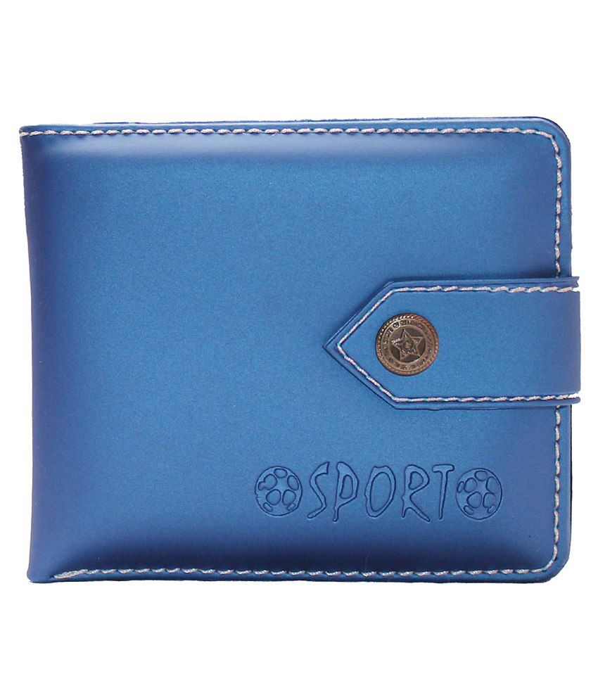 Assashion Blue Regular Wallet For Men
