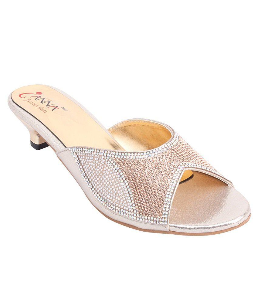 Ianna Golden Slip Ons