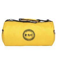 Estrella Companero FIT BABE GYM BAG-EC74 Yellow Duffle Bag
